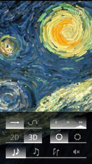Starry Night Interactive Animation Screenshot