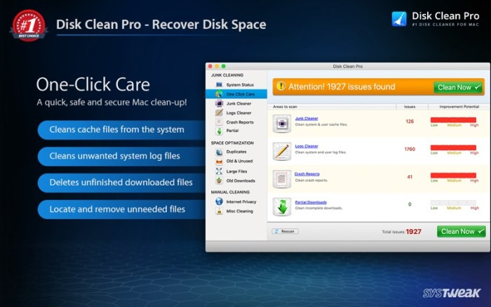 Disk Clean Pro Screenshot 02 f7incjn