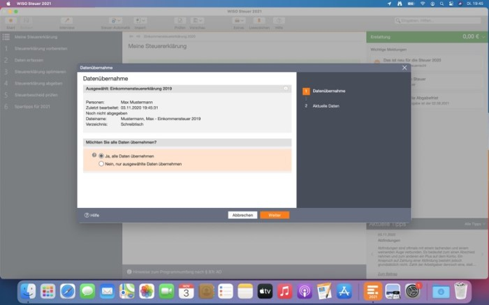 WISO Steuer 2021 Screenshot 02 1nxjton