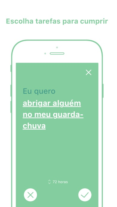 Screenshot do app Kiwi: cultive bons hábitos
