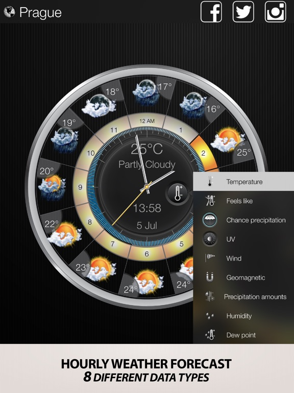 Weather Clock Widget-Local Hourly Weather Forecast Screenshot