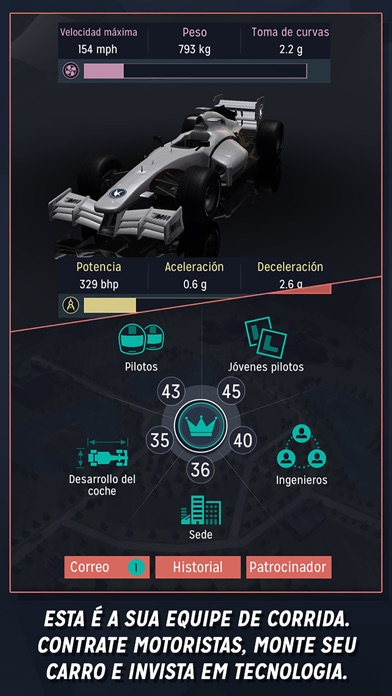 Screenshot do app Motorsport Manager Handheld