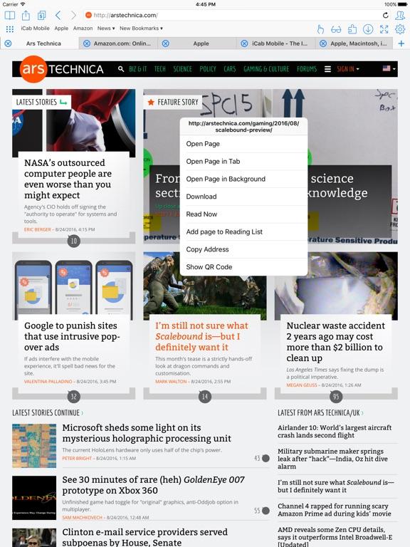 iCab Mobile (Web Browser) Screenshot