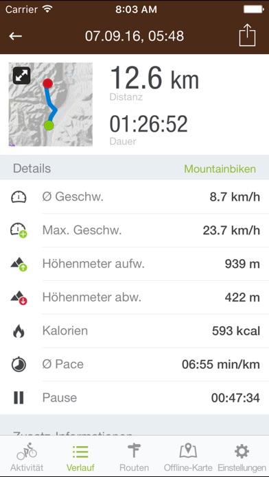 Runtastic Mountain Bike PRO Screenshot