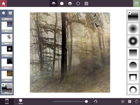 Stackables for iPad - Überlagerte Texturen, Effekte und Masken Screenshot