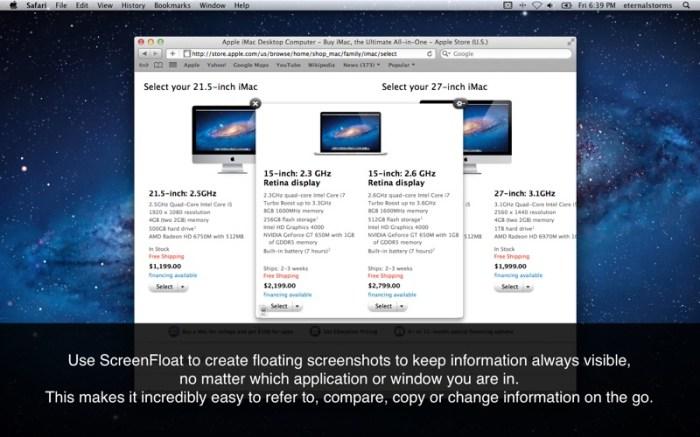 ScreenFloat-Better Screenshots Screenshot 01 x36bkn