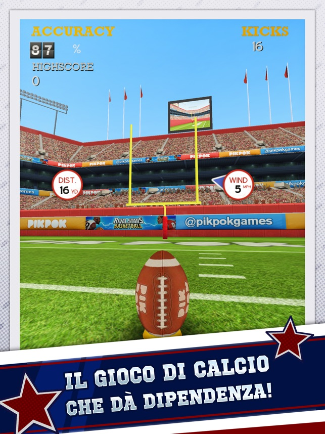 Flick Kick Field Goal Kickoff Screenshot