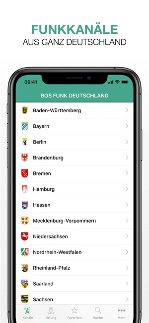 BOS Funk Deutschland Screenshot