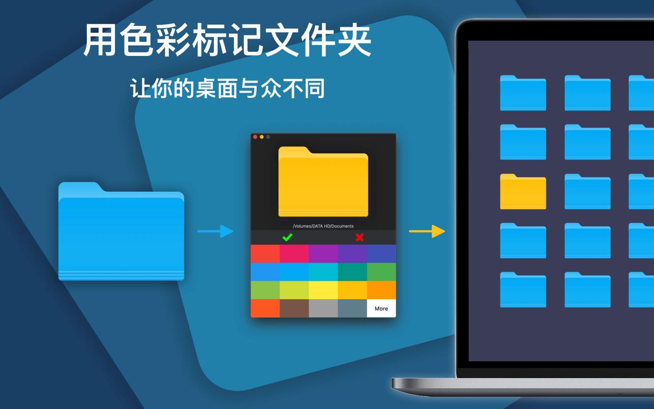 ColorFolder 1.1.1 Mac 破解版 一键改变文件夹的颜色