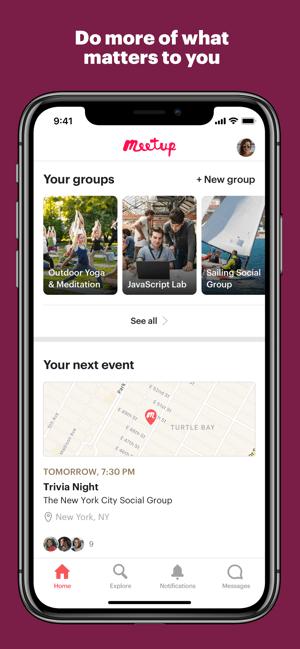 Meetup: Local groups & events Screenshot