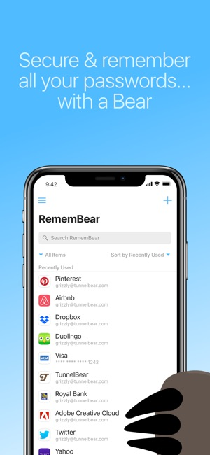 RememBear: Password Manager Screenshot