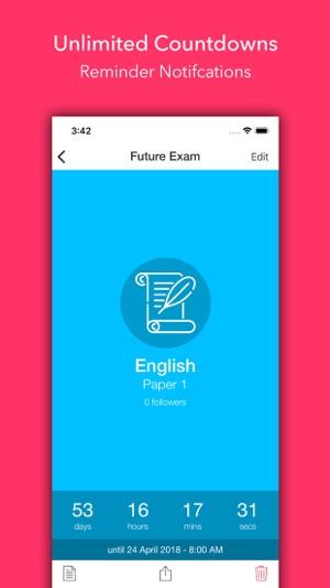 Exam Countdown Lite Screenshot