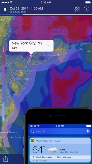 NOAA Weather Radar Live on the App Store Screenshots