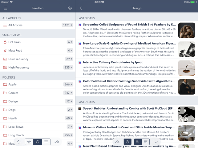 Fiery Feeds: RSS Reader Screenshot