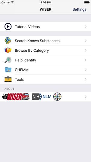 WISER Response Screenshot