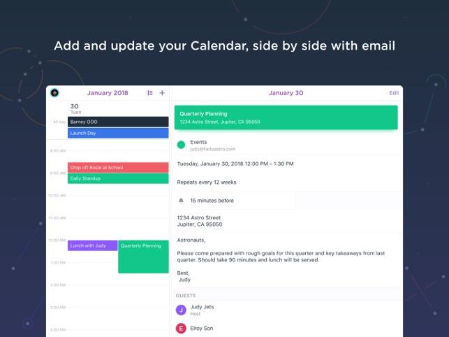 Astro - Email & Calendar Screenshot