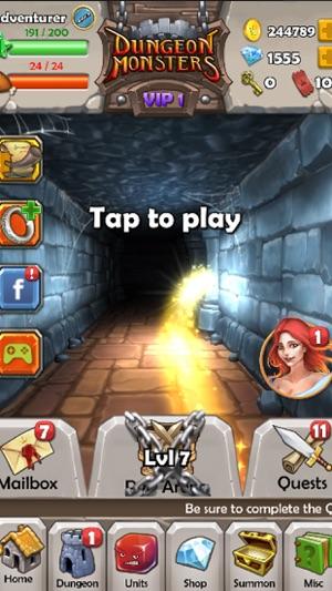 Dungeon Monsters RPG Screenshot