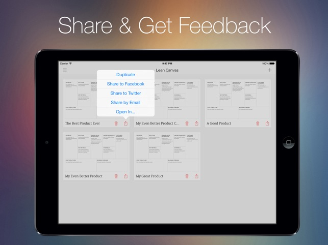Lean Canvas on the App Store  Lean Canvas on the App Store