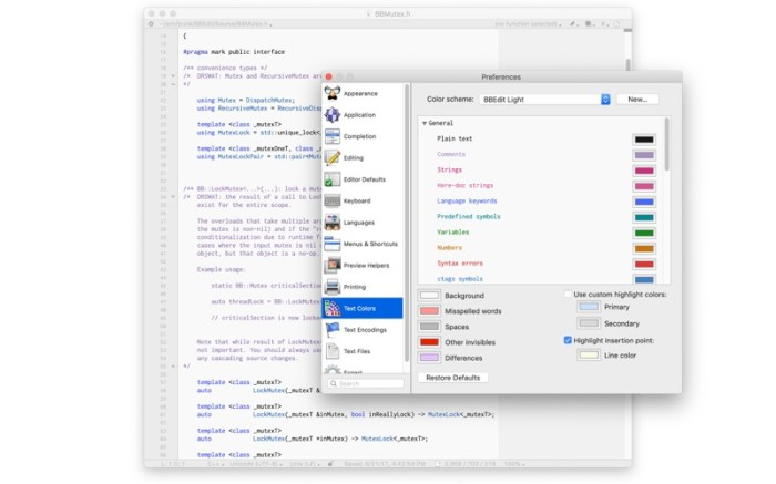 BBEdit Screenshot 07 12v3t5n