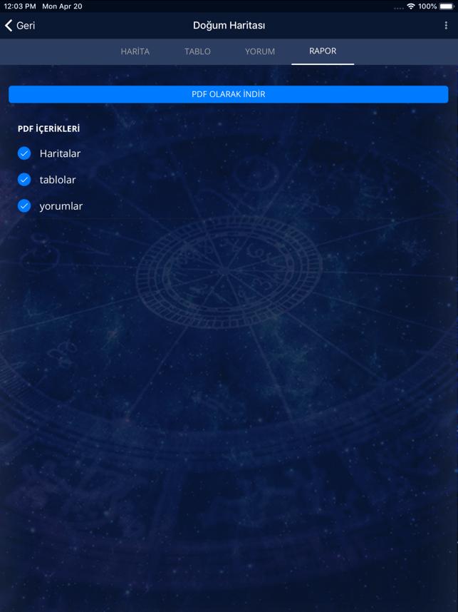 Gökgünlük Astroloji Uygulaması Screenshot
