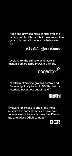 ProCam 6 Screenshot
