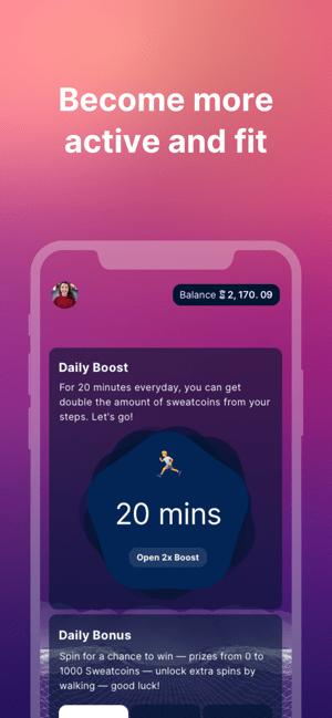 Sweatcoin Walking Step Counter Screenshot