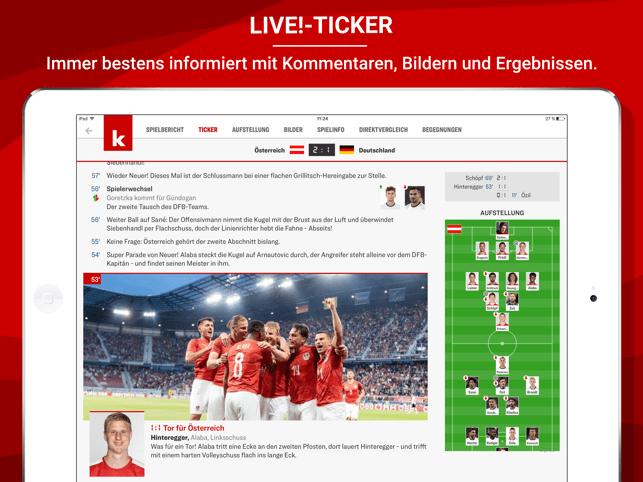 kicker Fußball WM 2018 Screenshot