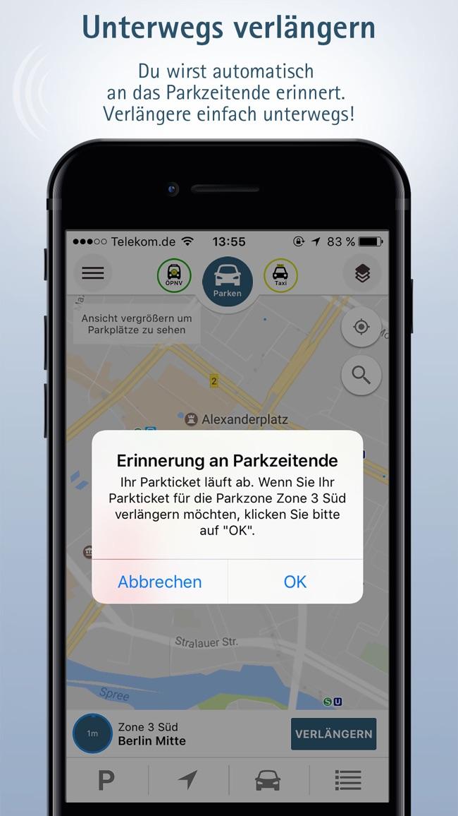 Parken mit TraviPay Screenshot