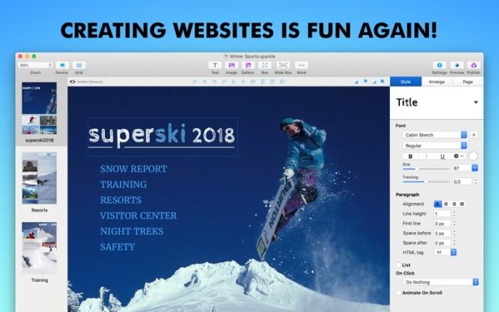 Sparkle, Visual Web Design Screenshot 03 ikzefpn
