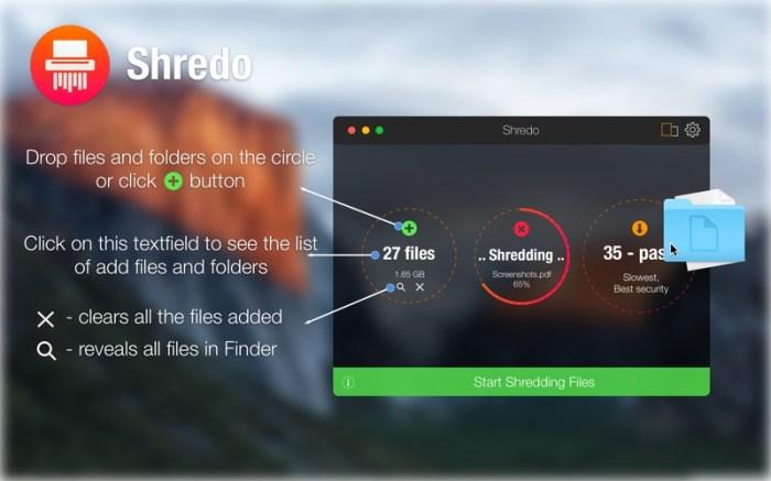 Shredo - shredder & cleaner Screenshot 02 130hzhn