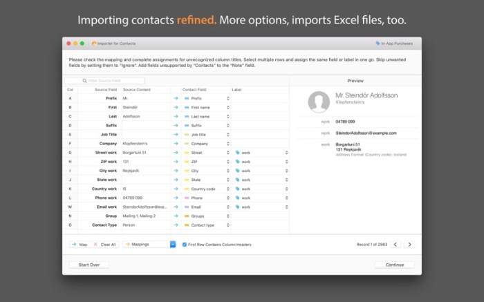 Importer for Contacts Screenshot 01 12m39bn