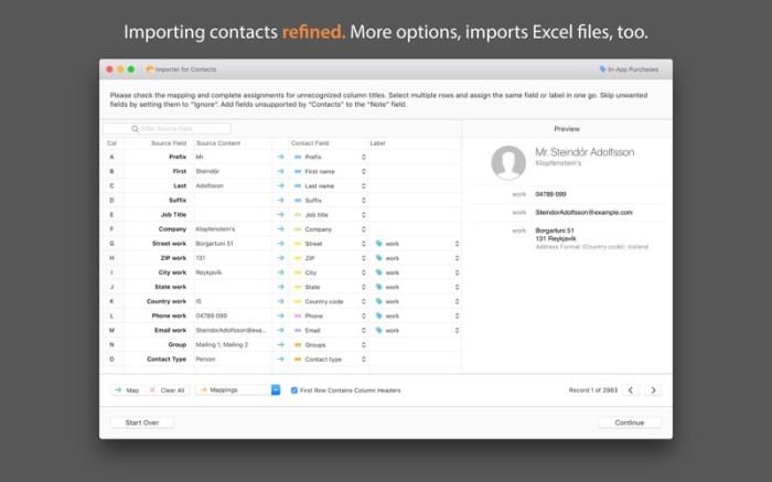 Importer for Contacts Screenshot 01 nbq1wqn