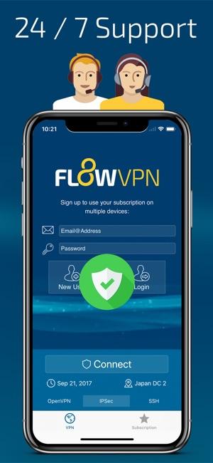 Flow VPN Screenshot