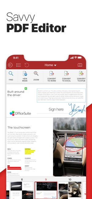 OfficeSuite PRO Mobile Office Screenshot