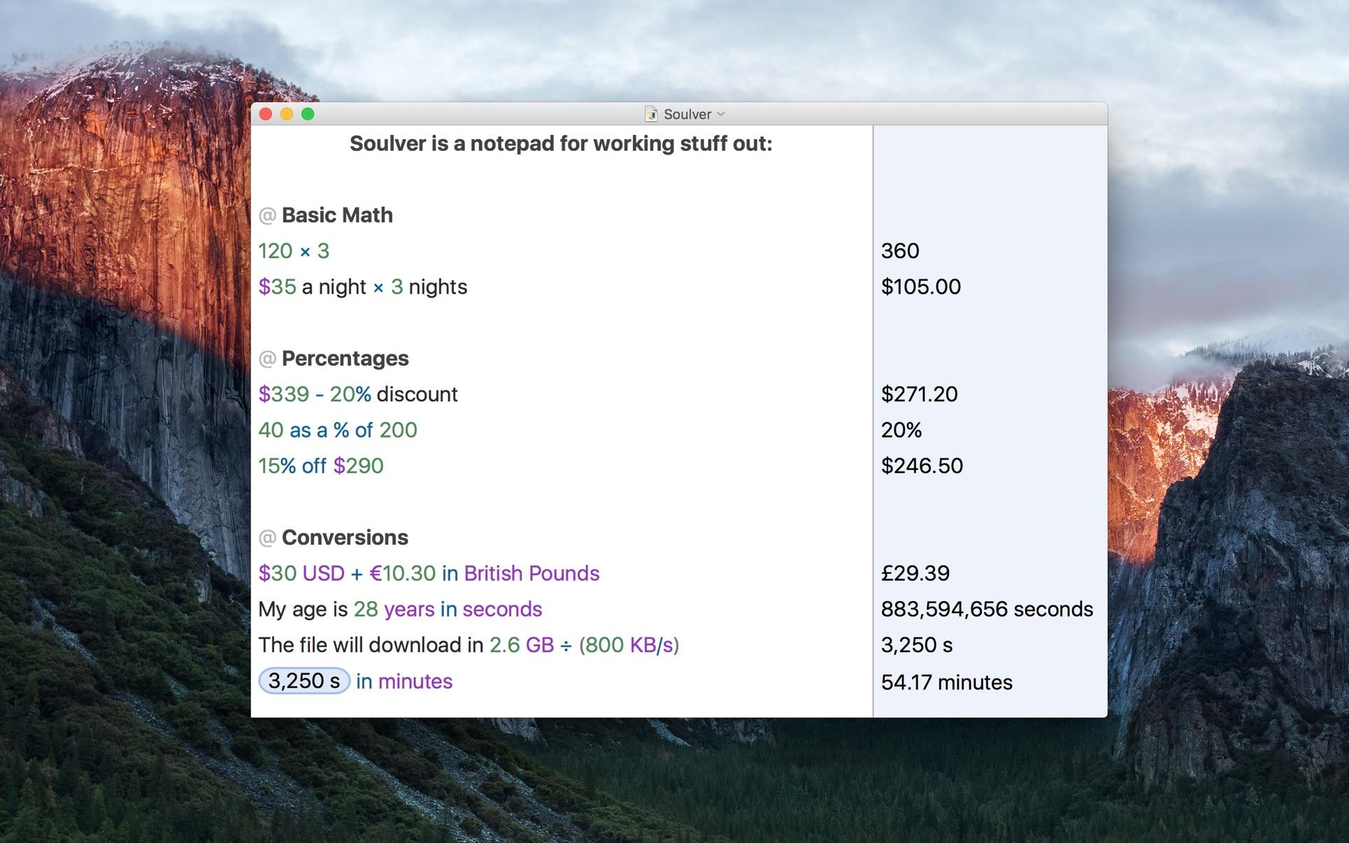 Soulver 3 3.4.14 Mac 破解版 Mac 上强大的多功能计算器
