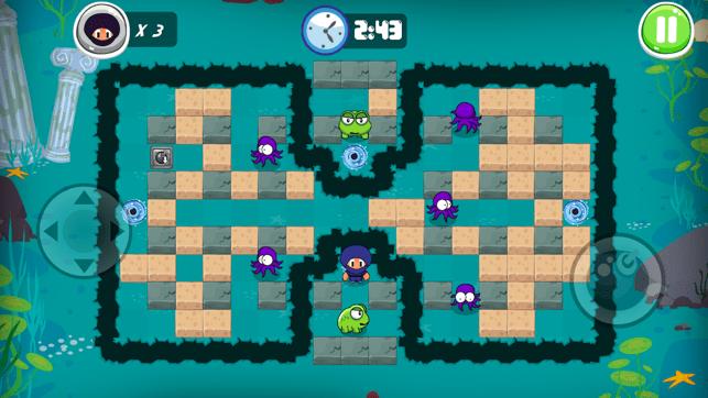 Ninja Boy Adventures - Bomberman edition Screenshot
