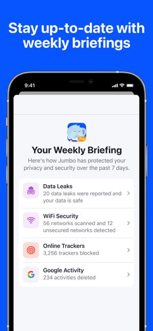 Jumbo: Privacy + Security Screenshot