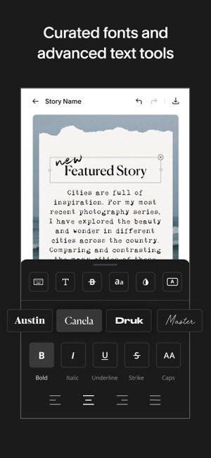 ‎Unfold — Story Maker & Collage Screenshot