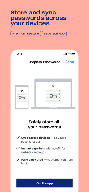 Dropbox: Cloud Storage, Backup Screenshot