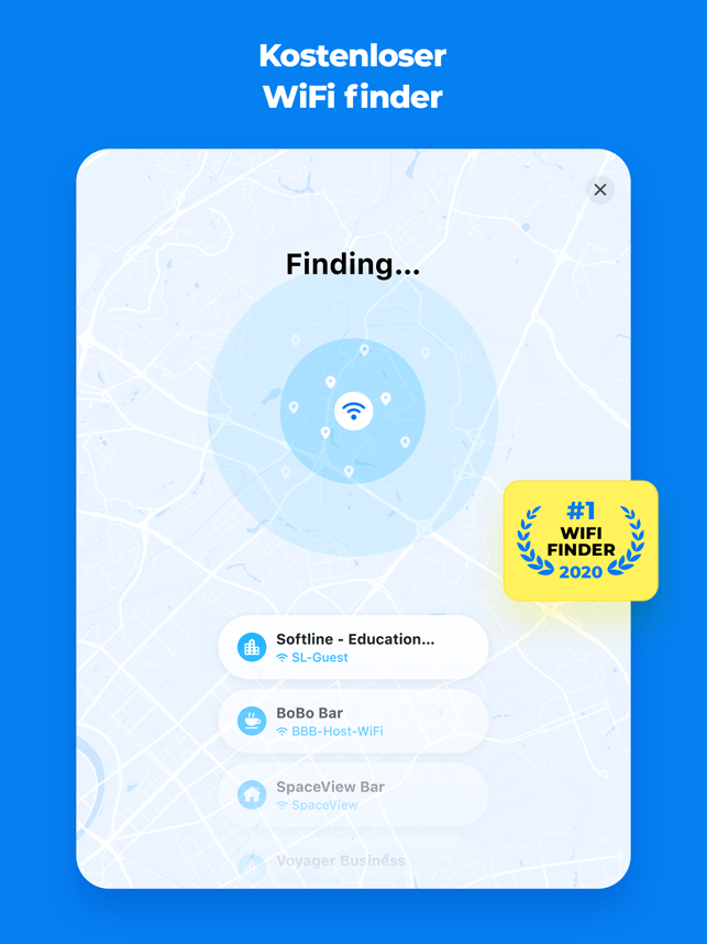 WiFi Map TripBox-WLAN Passwort Screenshot
