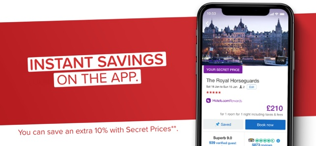 Hotels.com: Book Hotels & More Screenshot