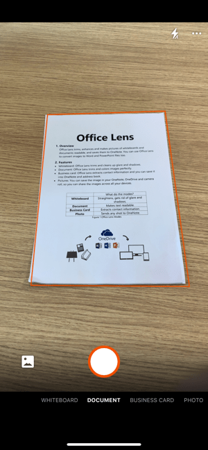 Microsoft Office Lens PDF Scan Screenshot