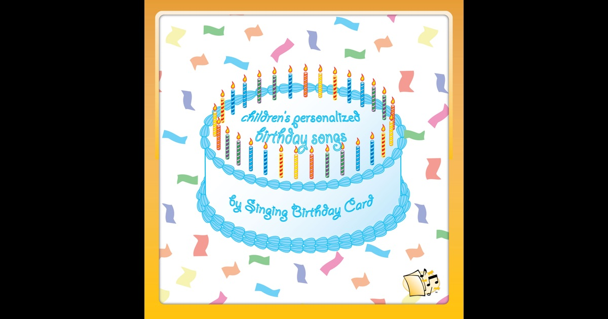 Personalized Singing Birthday Cards