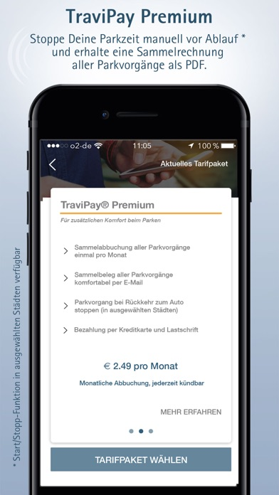 Parken mit TraviPay Screenshot