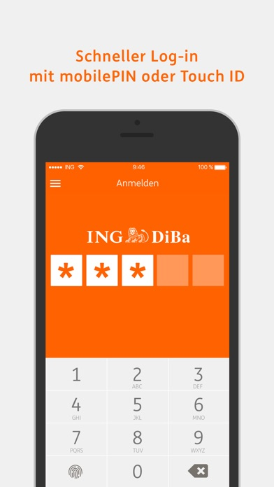 ING-DiBa Banking to go Screenshot
