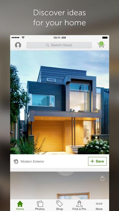 Screenshot do app Houzz Interior Design Ideas