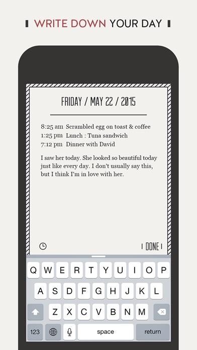 DayGram - One line a day Diary (Note/Journal) Screenshot