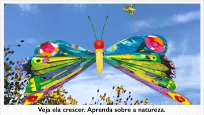 Screenshot do app Minha Lagarta Comilona AR