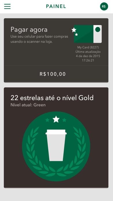 Screenshot do app Starbucks Brasil