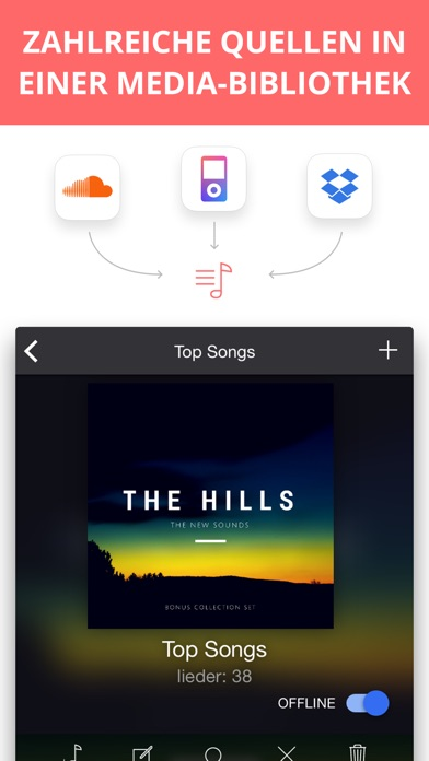 Eddy Wolke Music Player Pro Screenshot